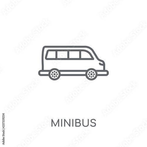 Fotografie, Obraz  Minibus linear icon