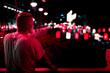canvas print picture - Mann vor Neon Reklame bei Nacht