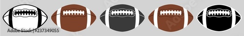 American Football | Ball | Emblem | Logo | Variations Fototapet