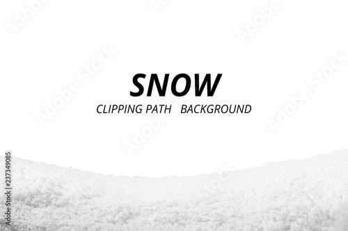 Valokuva  Snow isolated on white background.