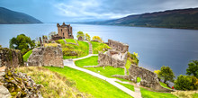 Urquhart Castle With Dark Clou...