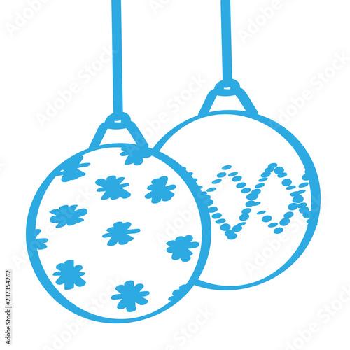 Christbaumkugeln Blau.Handgezeichnete Christbaumkugeln In Blau Buy This Stock Vector And