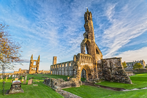 St Andrews Cathedral in St. Andrews, Scotland Canvas Print