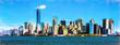 New York city skyline including the One Trade Center building, USA