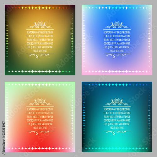 Fotografía  Vibrant Gradient Background set