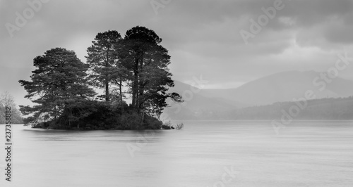 Leinwand Poster Derwent Water Misty Day