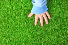 Artificial Grass Background. T...
