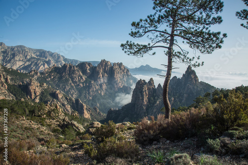 view of corsica mountains