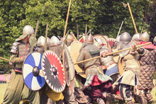 Battle Of Medieval Warriors Event In Wolverhampton, England