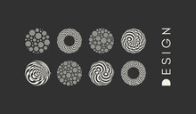 Abstract Striped Spheres Backg...
