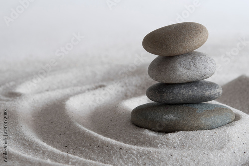 Poster de jardin Zen pierres a sable Beach meditation