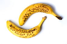 Spotted Bananas Isolated On Wh...