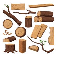 Wooden Log, Chopped Trunk, Tim...