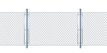 Seamless Fence Made Of  Metal ...
