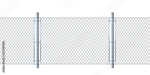 Photographie Seamless fence made of  metal wire mesh.
