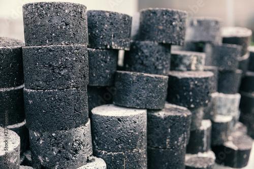Valokuva  samples of asphalt