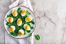 Deviled Eggs With Paprika As An Appetizer