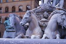 Fountain Of Neptune By Bartolomeo Ammannati, Piazza Signoria, Florence, Italy