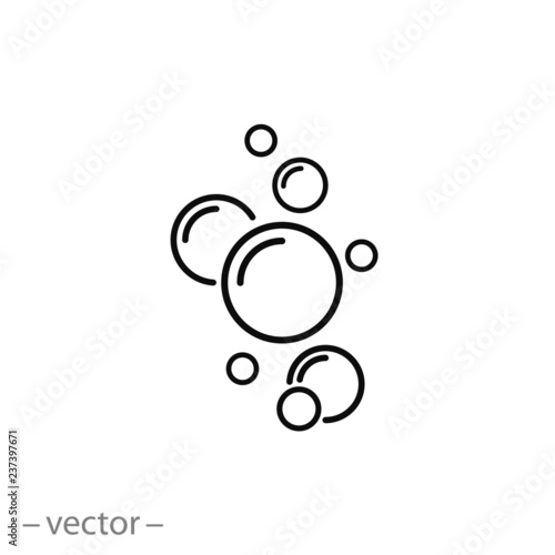 bubble icon vector Canvas Print