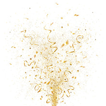 Explosion Of Golden Confetti