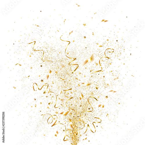Obraz Explosion of Golden Confetti - fototapety do salonu
