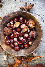 Chestnuts In A Wood Bowl