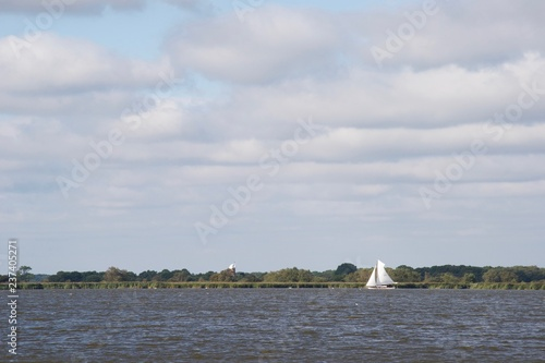 Canvas Print A vintage sailing boat in the Norfolk Broads