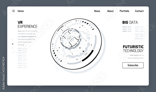 Photo  3D Futuristic Technology Minimalistic Website Template