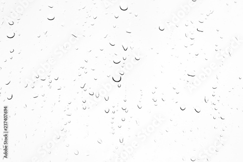 Fotografia, Obraz  closeup drops water on glass background