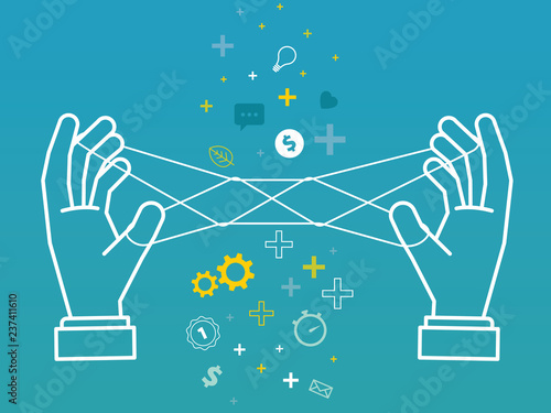 Fotografie, Obraz  management business conceptual