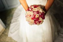 Bride Holding Bridal Bouquet W...