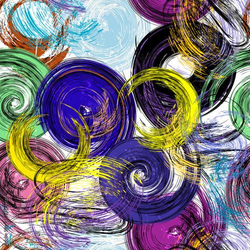 seamless panit strokes background pattern, vector illustration