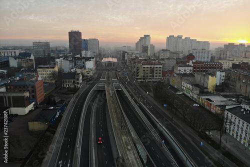 The city of Lodz, Poland