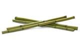 Fototapeta Bamboo - Green bamboo sticks isolated on white, side view