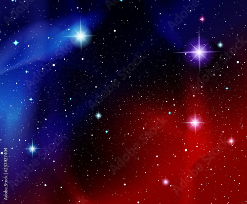 Vector Illustration Shining Stars Fantasy Cosmos Outdoor Space Red And Blue Galaxies And Constellations Buy This Stock Vector And Explore Similar Vectors At Adobe Stock Adobe Stock