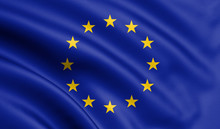 Waving European Union Flag , E...