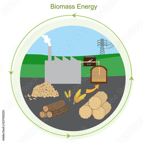 Biomass Energy Tapéta, Fotótapéta