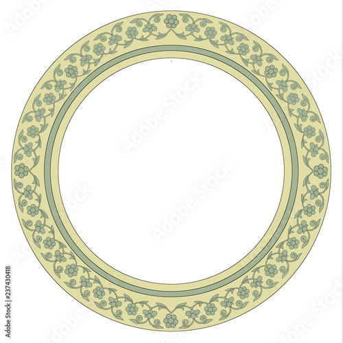Round vector ornament for holiday decorations Wallpaper Mural