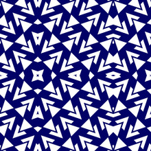Blue Chevrons Seamless Pattern...