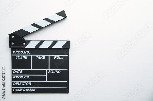 Movie clapper on white background. Tapéta, Fotótapéta
