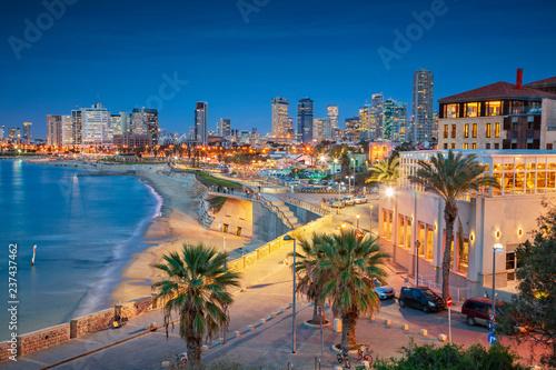 Tel Aviv Skyline Canvas-taulu