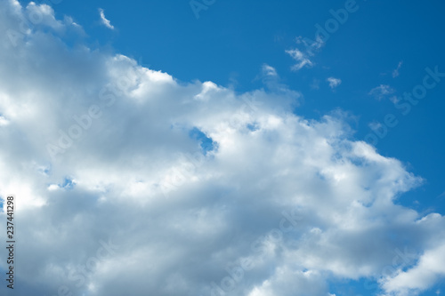Foto op Canvas Luchtsport blue sky with white clouds