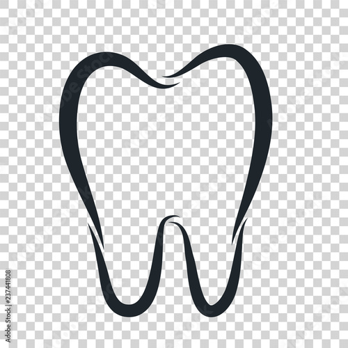 Tooth Logo Icon For Dentist Or Stomatology Dental Care Design