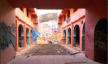 Abandoned Building With Graffi...