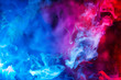 canvas print picture - blue and red smoke background