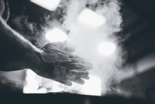 Clapping Hands With Dust