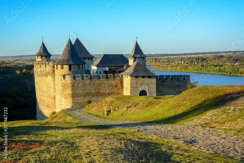 Foto  Ancient fortress on the banks of the Dnister River, Khotyn Fortress, Ukraine