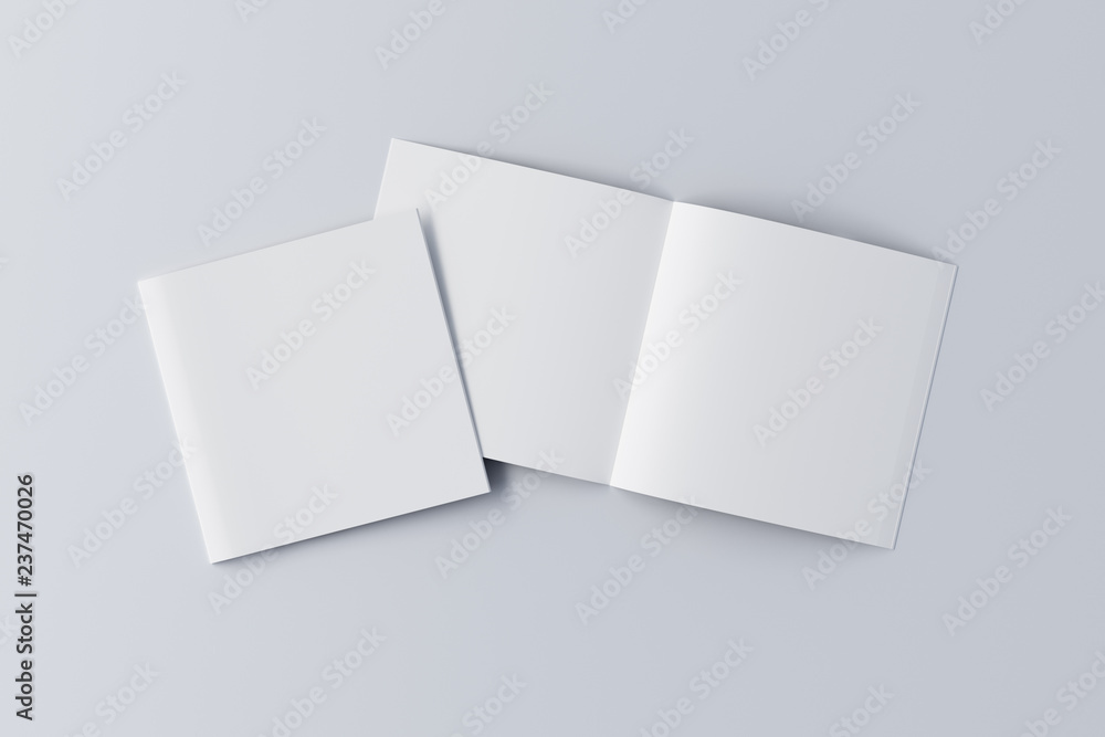 Fototapety, obrazy: Open and closed  blank booklet