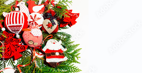 Christmas Decoration Isolated White Background For Post