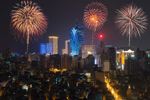 New Year's Fireworks At Maca...
